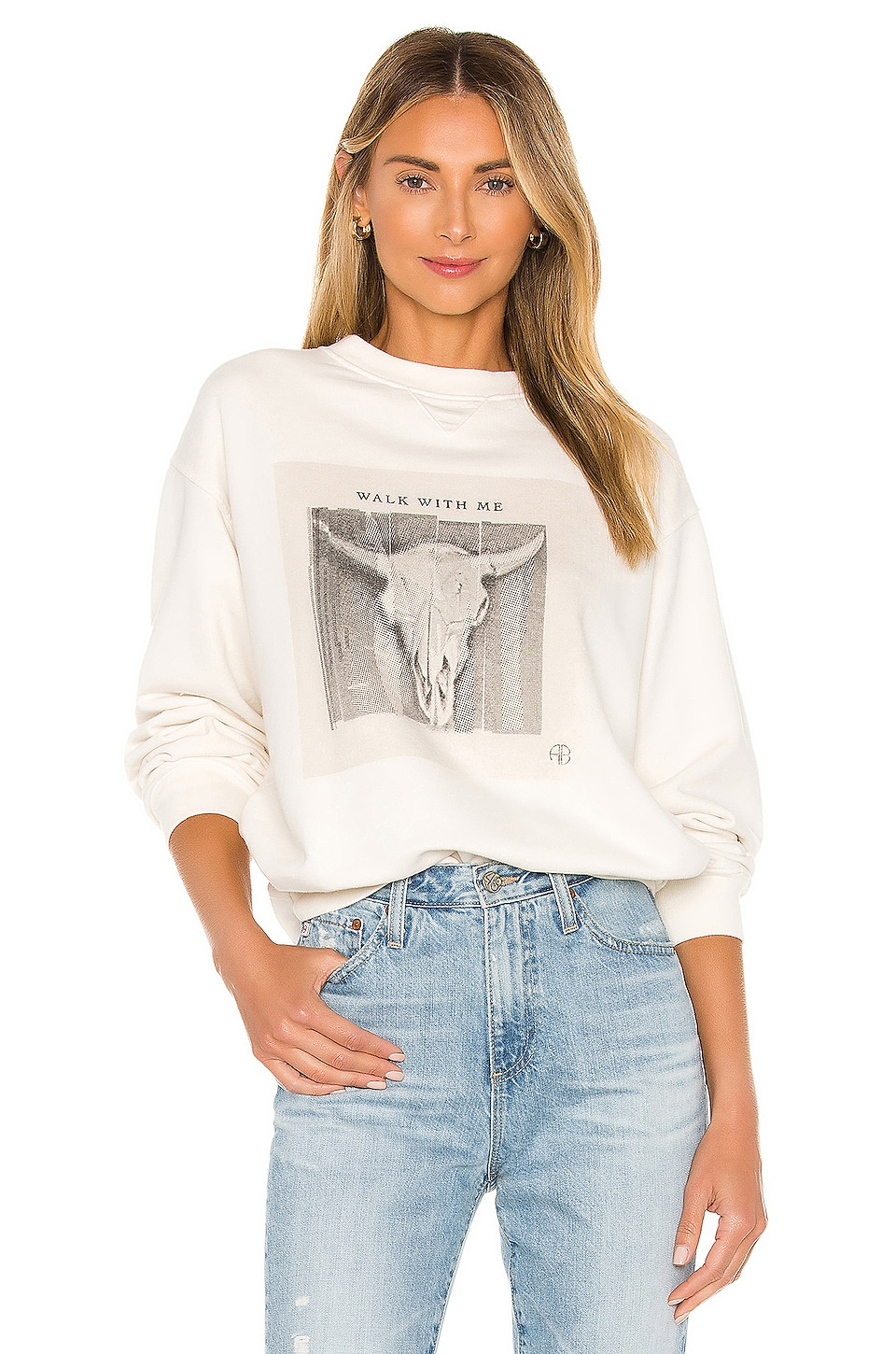 Ramona Walk With Me Sweatshirt             ANINE BING                                                                                                       CA$ 224.71 3