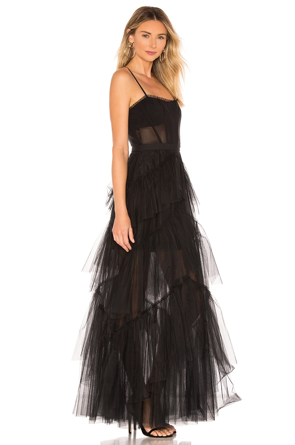 Corset Tulle Gown, view 2, click to view large image.