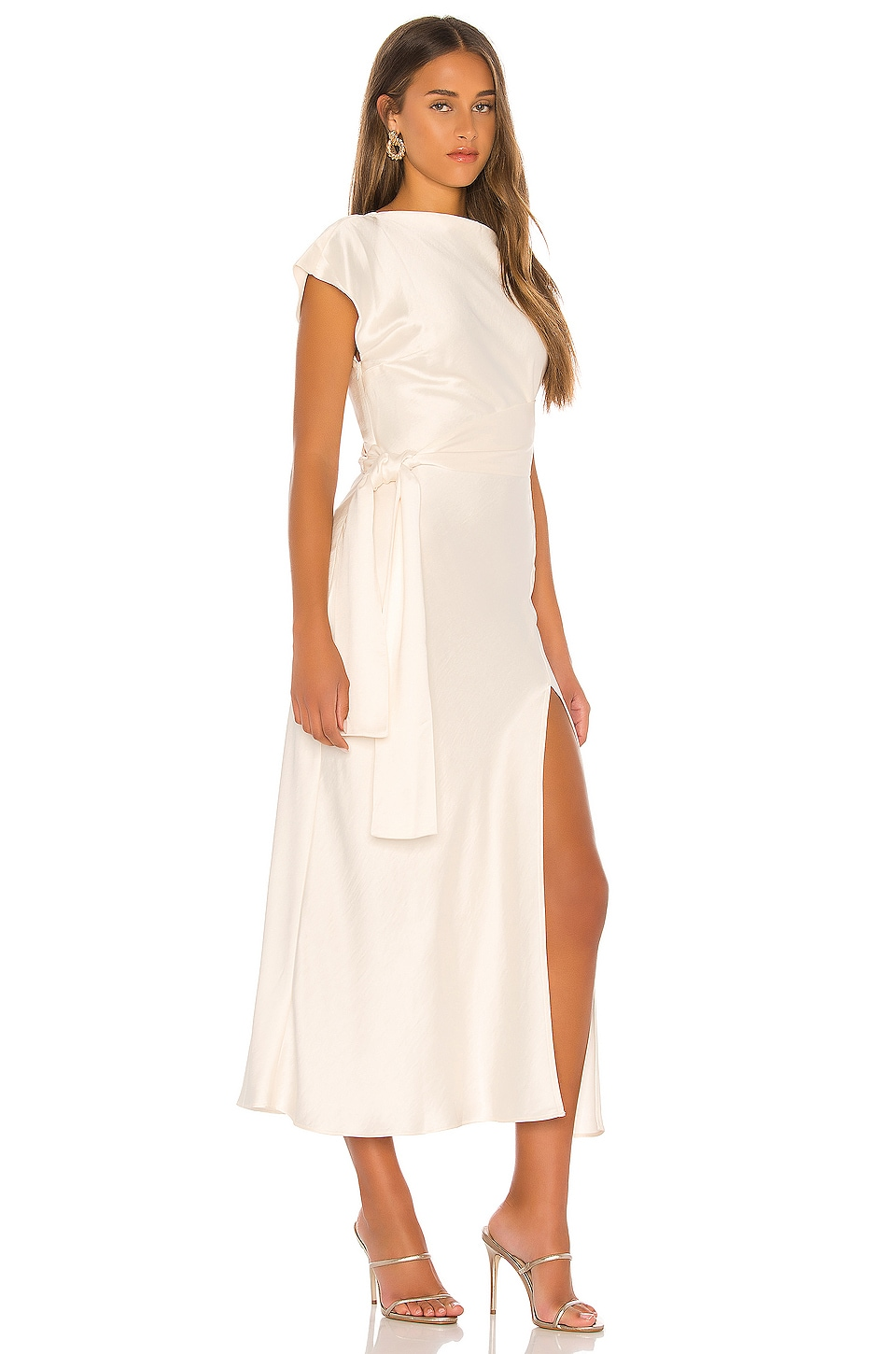 Piper Asymmetrical Midi Dress, view 2, click to view large image.