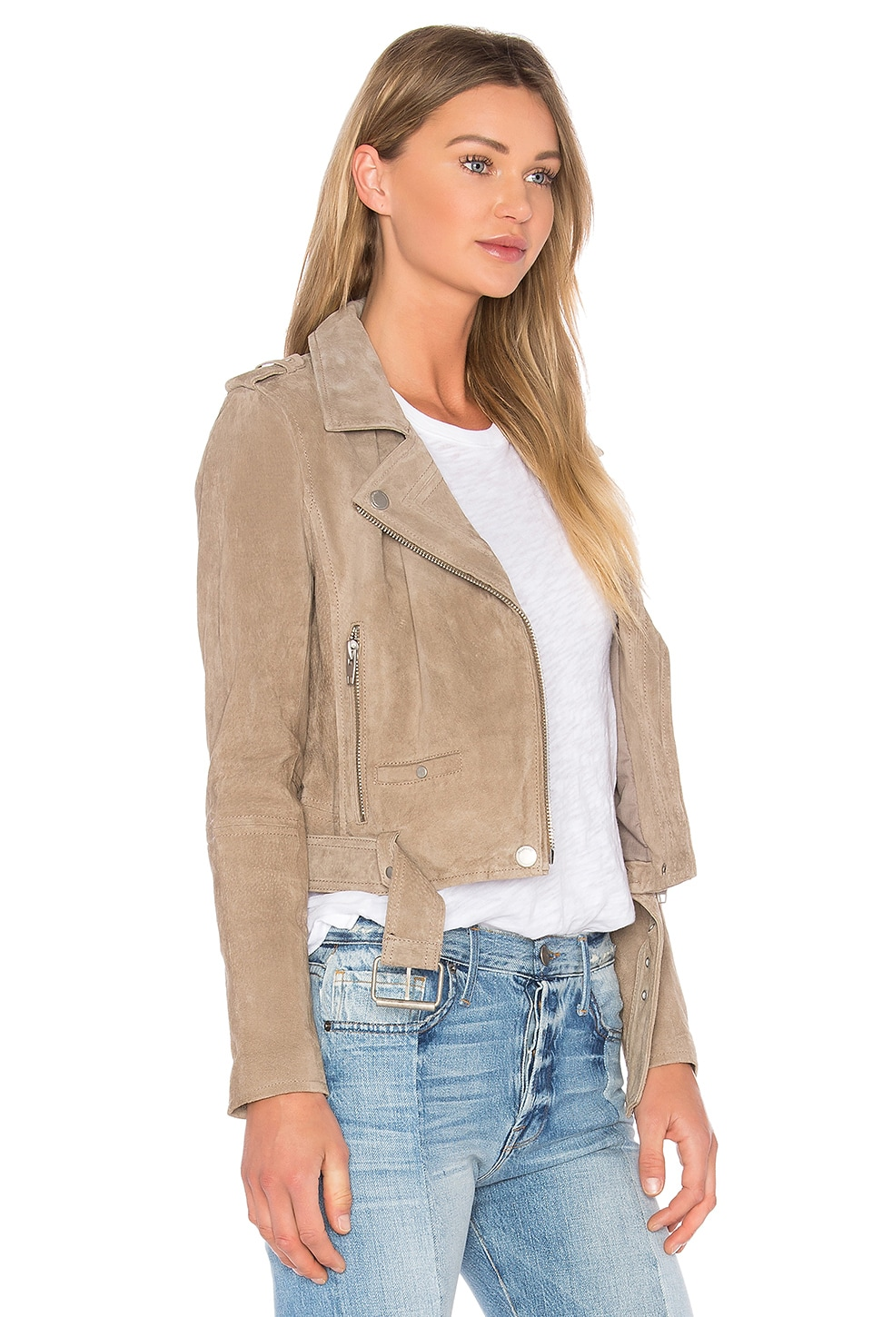 Suede Moto Jacket, view 2, click to view large image.