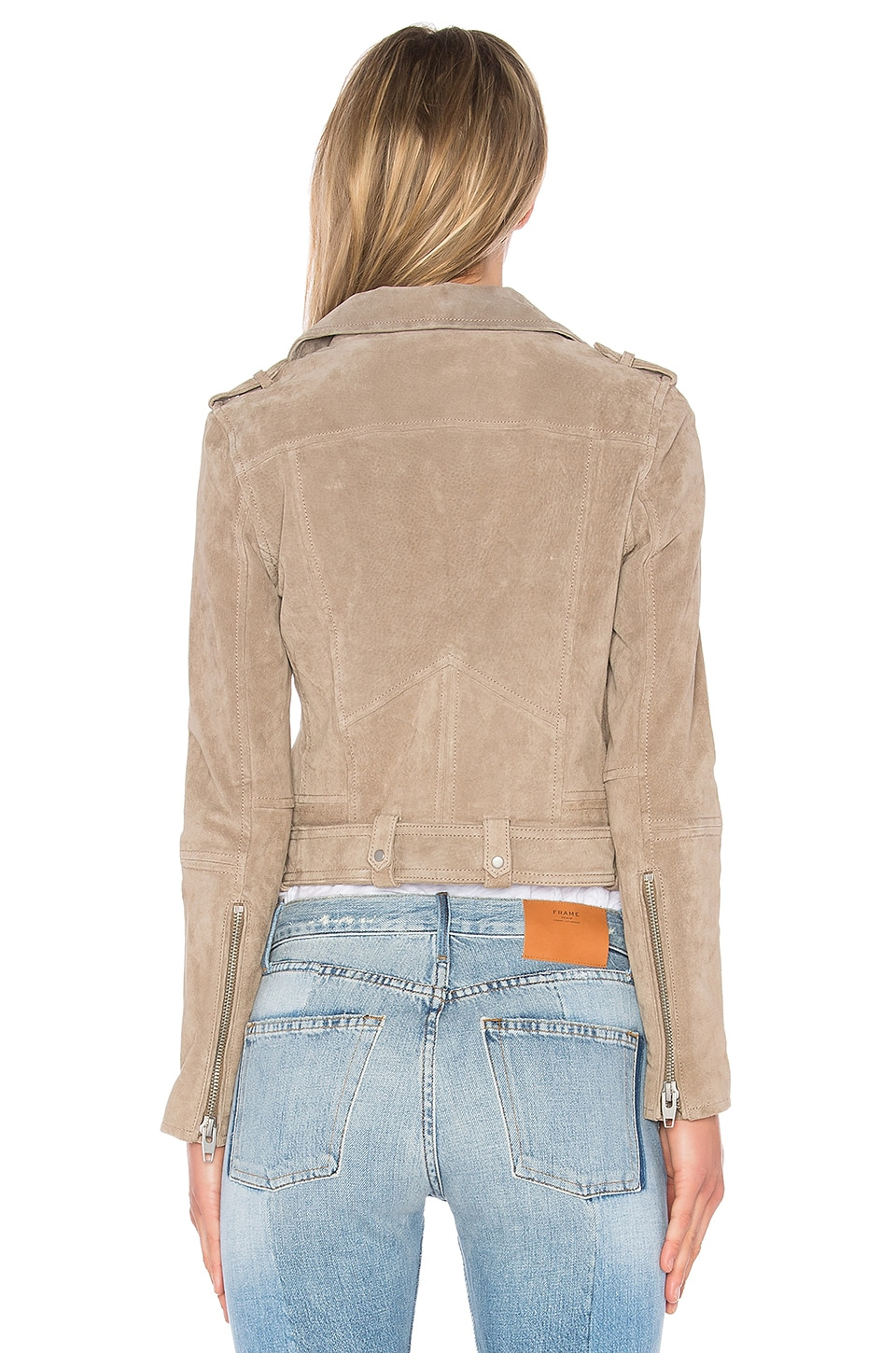Suede Moto Jacket, view 3, click to view large image.