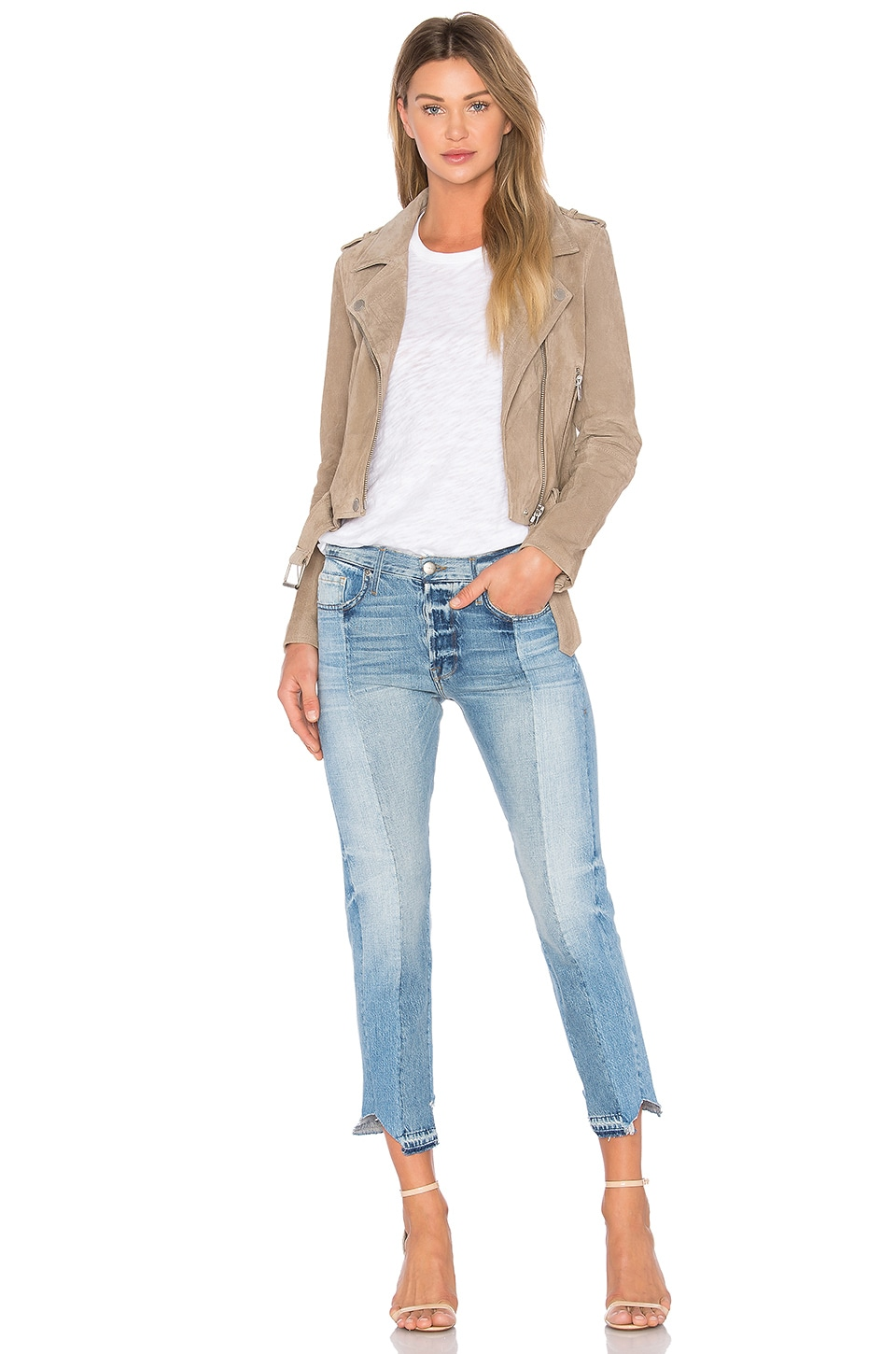 Suede Moto Jacket, view 4, click to view large image.