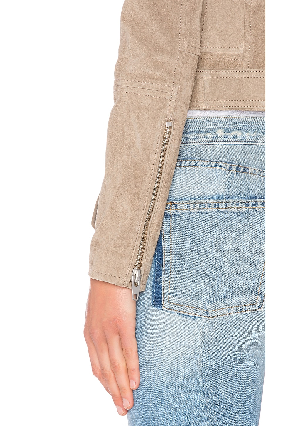 Suede Moto Jacket, view 5, click to view large image.