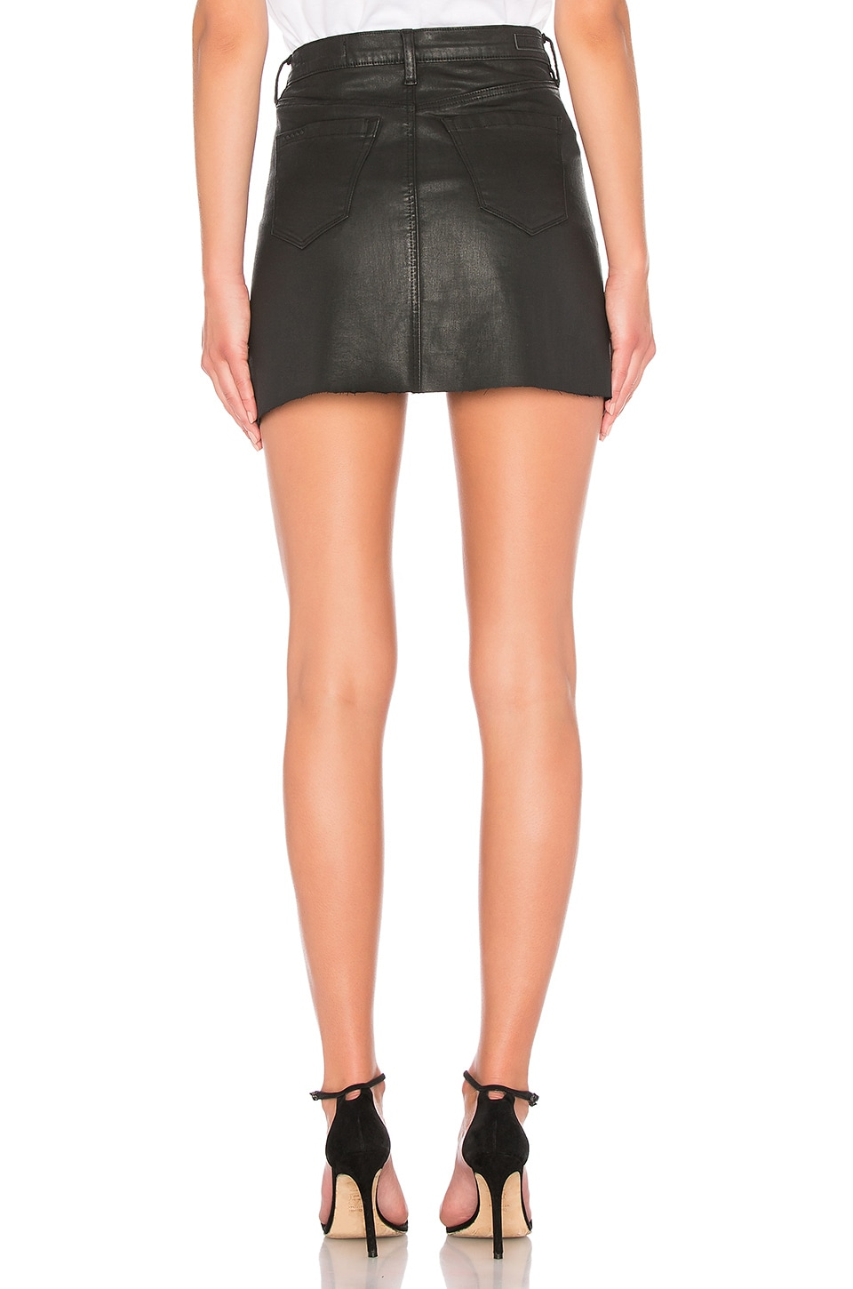 Frayed Edge Mini Skirt, view 3, click to view large image.