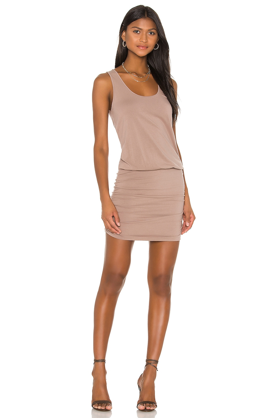 Draped Modal Jersey Mini Dress                     Bobi 8
