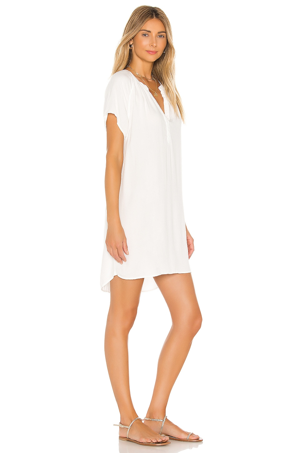 Beach Crepe Mini Dress, view 2, click to view large image.