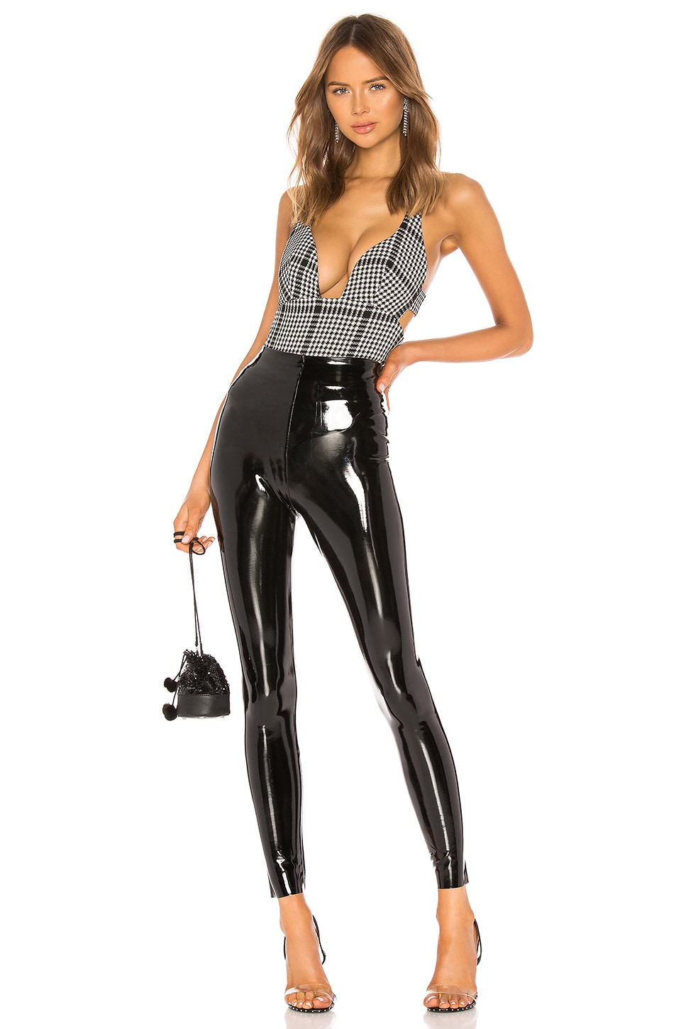 Perfect Control Patent Leather Legging, view 4, click to view large image.