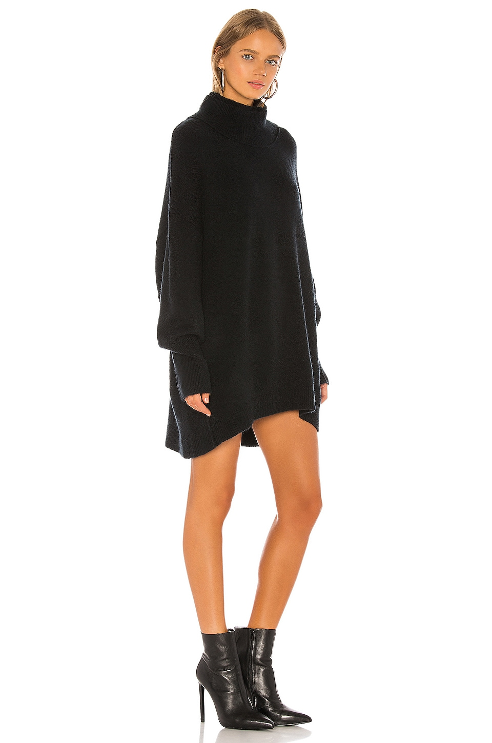 Afterglow Mock Neck Sweater Dress, view 2, click to view large image.