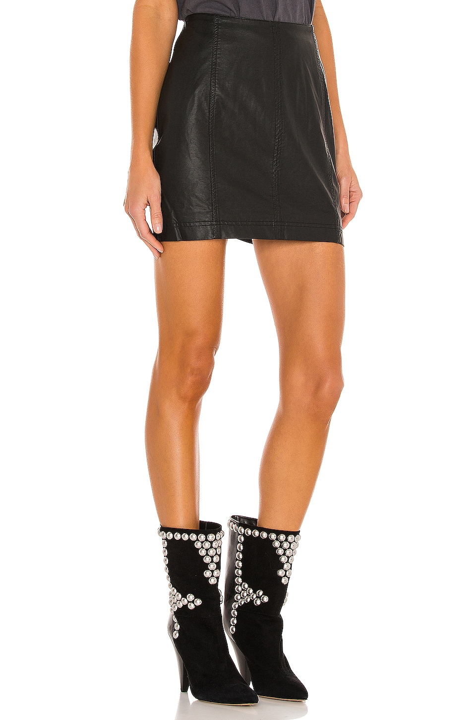 Modern Femme Vegan Mini Skirt, view 2, click to view large image.