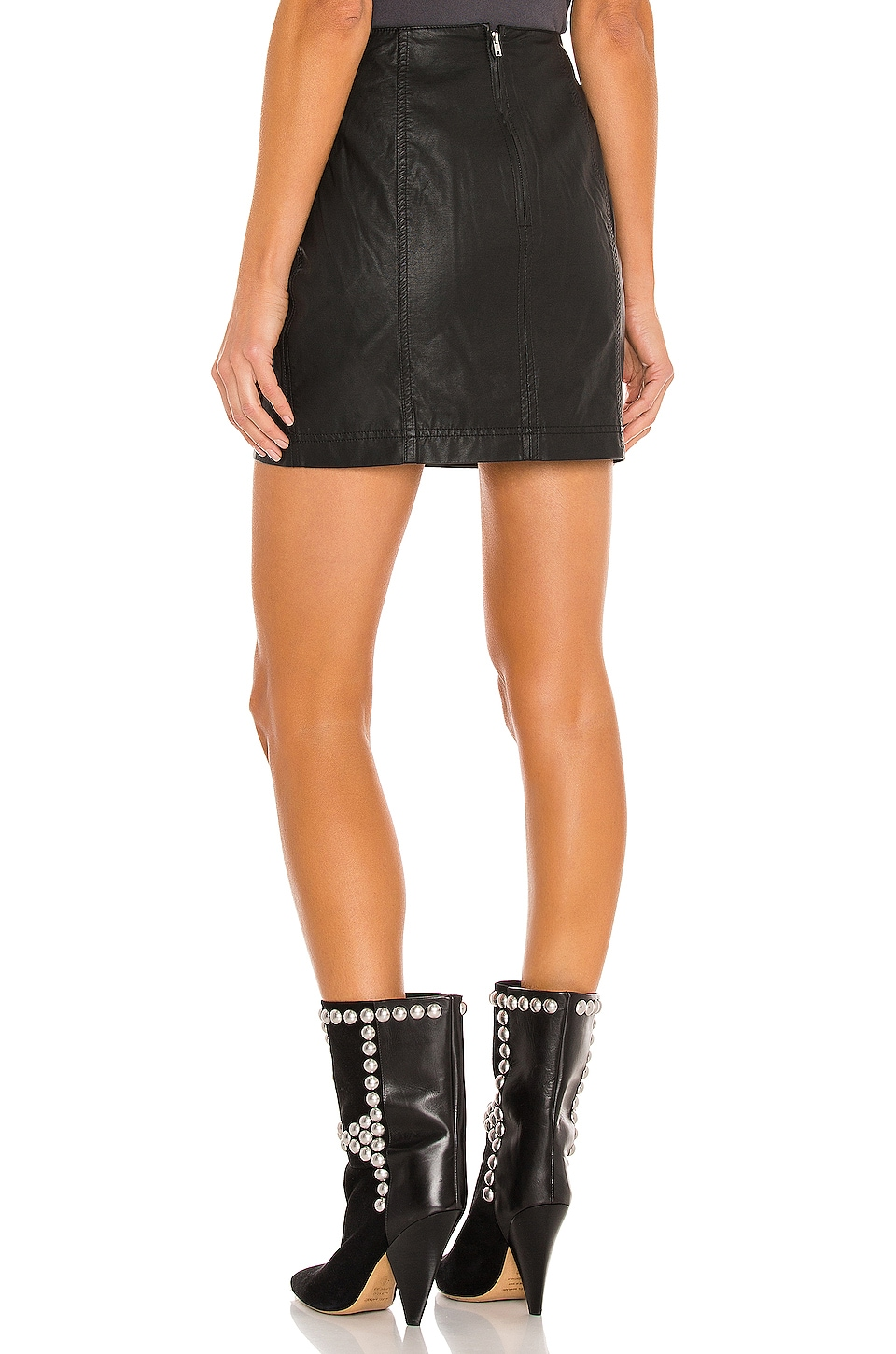 Modern Femme Vegan Mini Skirt, view 3, click to view large image.