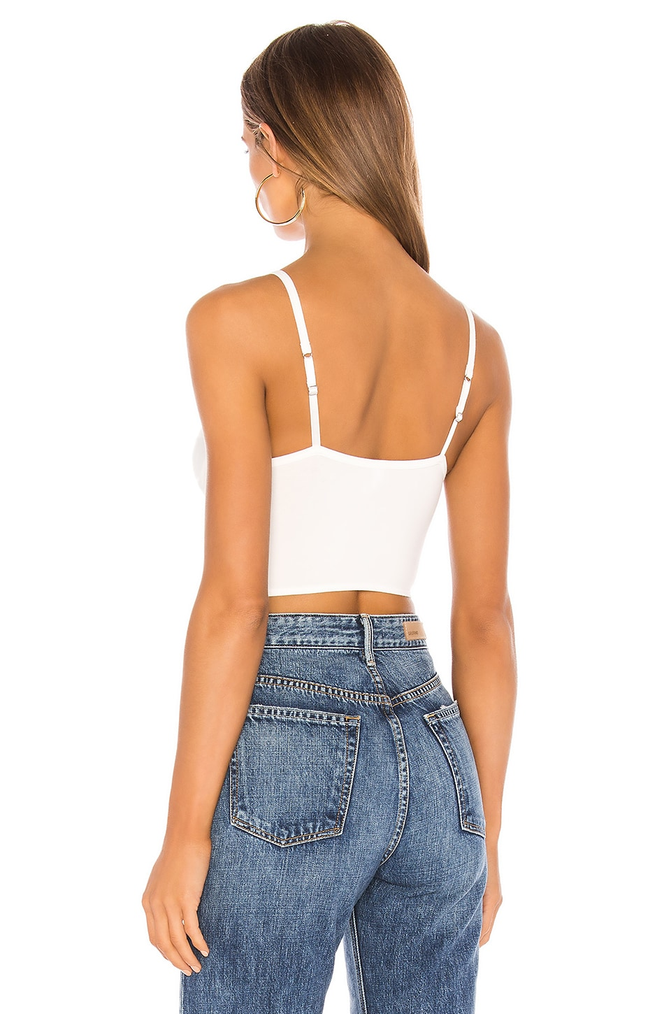 Cutlass Solid Bustier Crop Tank, view 3, click to view large image.
