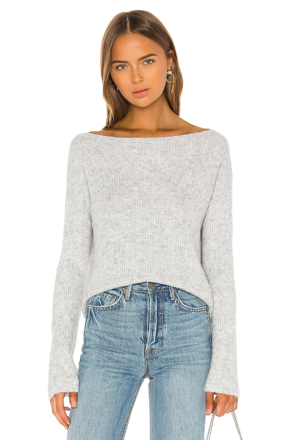Alayah Off Shoulder Sweater, view 2, click to view large image.