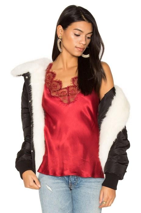 Coat with Faux Fur Trim 112