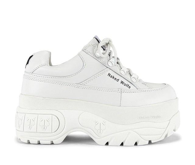 Naked Wolfe Sporty Sneaker In White Revolve