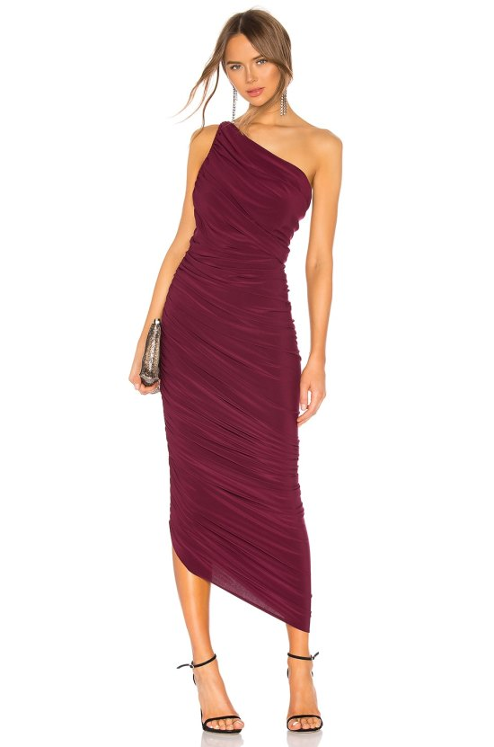 Norma Kamali Diana Gown in Plum
