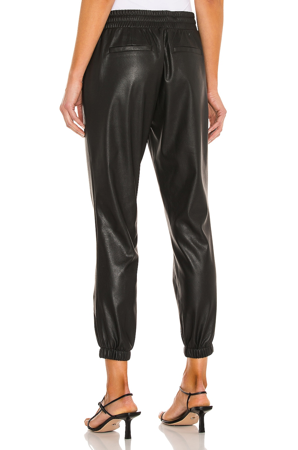 Scarlett Leather Jogger, view 3, click to view large image.