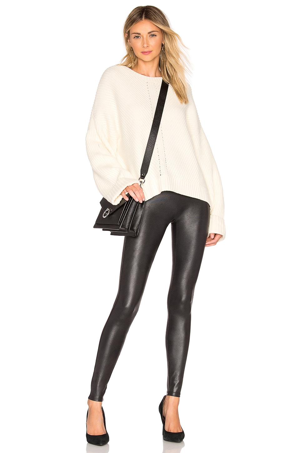 Faux Leather Leggings, view 4, click to view large image.