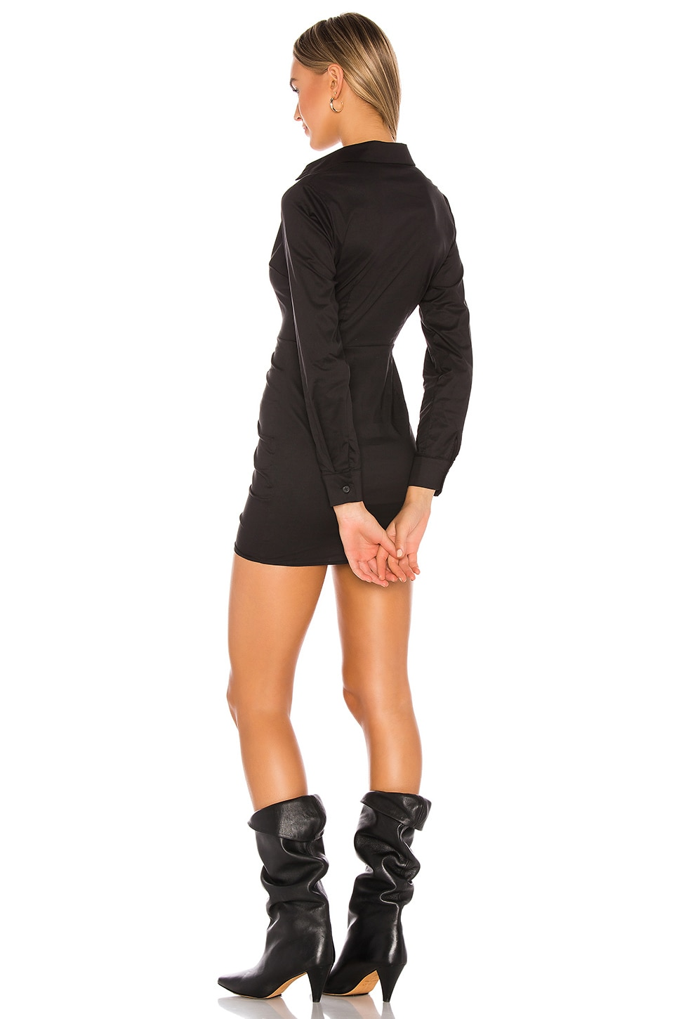 Colette Ruched Shirt Dress, view 3, click to view large image.
