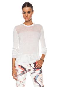 Equipment Shane Crew Neck Wool-Blend Sweater in White