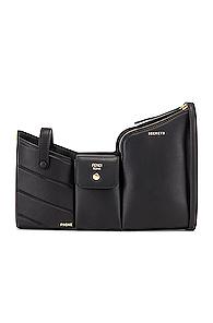 Fendi Mini Three Pocket Crossbody Bag in Black