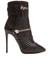 Giuseppe Zanotti Olinda Zipper Leather Booties in Black