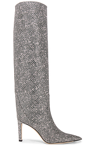 Jimmy Choo Mavis 85 Glitter Boots in Metalilc,Plaid