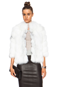 J. Mendel Arctic Fox Fur Jacket in White