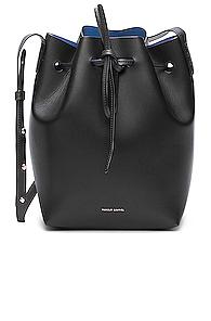 Mansur Gavriel Coated Mini Bucket Bag in Black