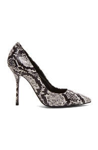 Pierre Hardy Classic Snake Pumps in Black,White,Animal Print