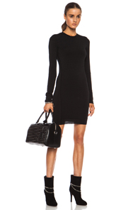 T by Alexander Wang Twist Poly-Blend Dress in Black