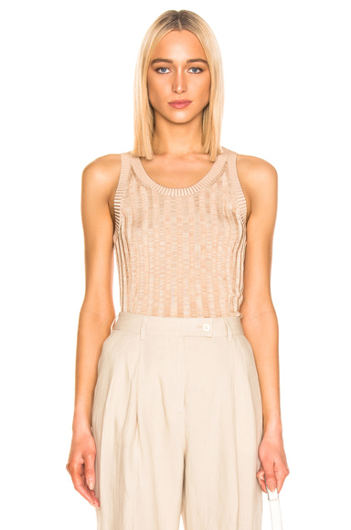 Acne Studios Katrina Tank Top in Brown,Neutral. - size L (also in S,XS)