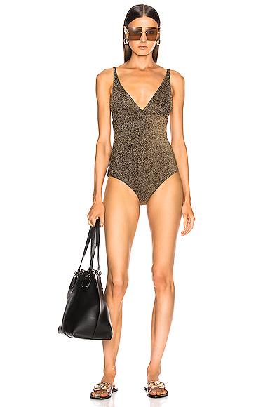 Alix Surfside Glitter Swimsuit in Metallic. - size S (also in M,XS)