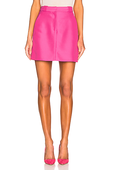 Brandon Maxwell Mini Skirt in Pink. - size 6 (also in 0,2,8)