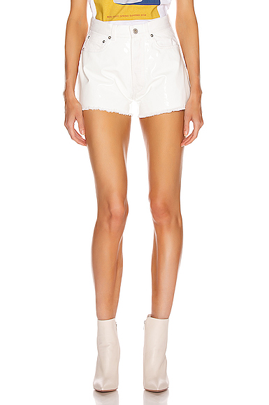 BEAU SOUCI Bramble Patent Short in White. - size 36 (also in 38,40,42)