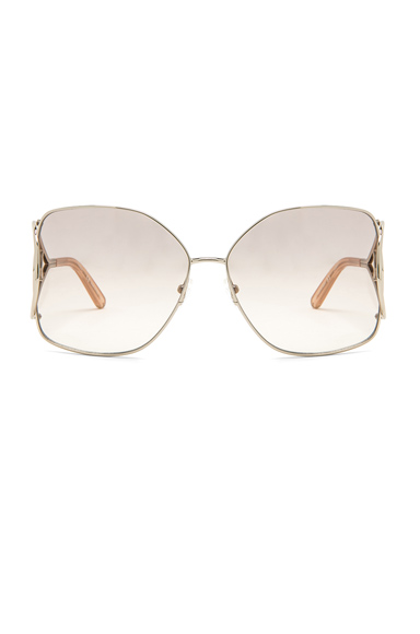 Chloe Jackson Sunglasses in Metallic Gold.