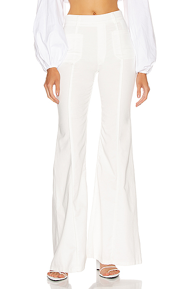 Chloe Light Denim Flare Jean in White. - size 38 (also in 34,36,40)