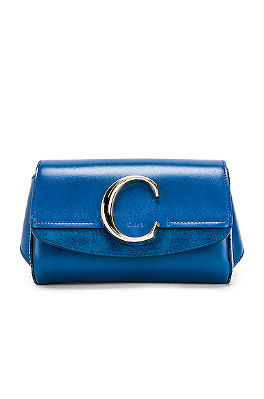 Chloe C Belt Bag in Blue.