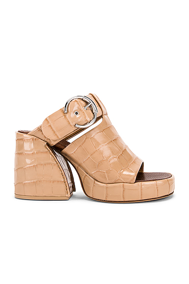 Chloe Buckle Platform Sandals in Neutral,Animal. - size 37 (also in 39,38)
