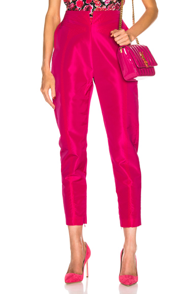 CARMEN MARCH High Waisted Pant in Pink. - size 38 (also in 40,42)
