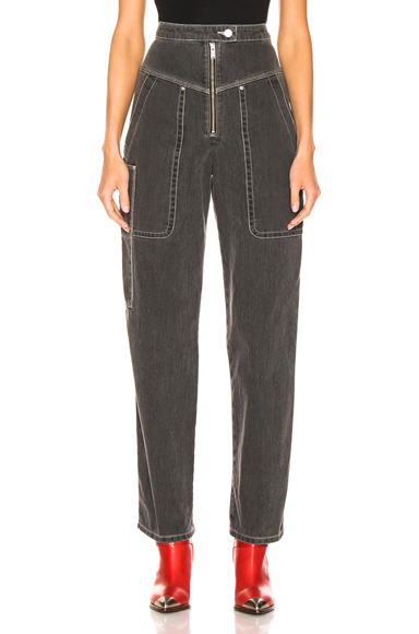 Isabel Marant Etoile Luke Pant in Black,Gray. - size 42 (also in 40)