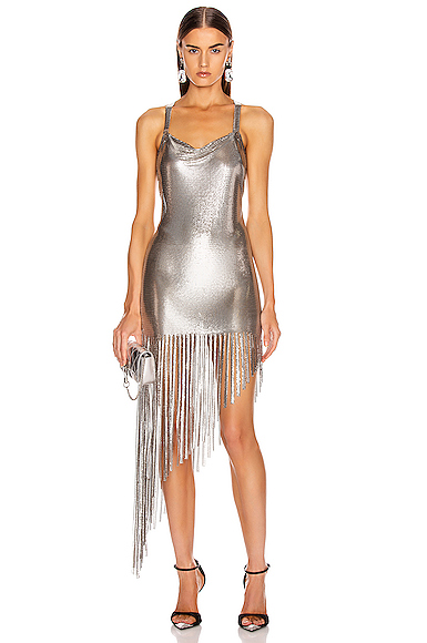 FANNIE SCHIAVONI Saoirse Dress in Metallic. - size S (also in M)