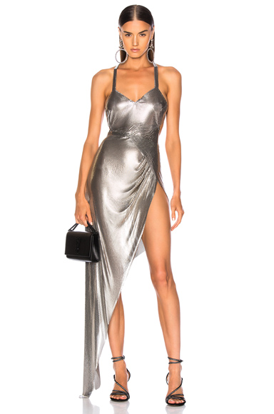FANNIE SCHIAVONI Izabel Dress in Metallic. - size S (also in XS)