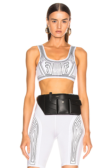 Fendi FFreedom Bra Top in White. - size 38 (also in 36,40,42,44)