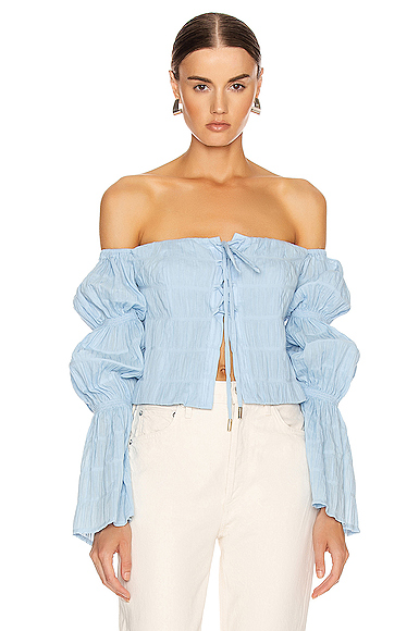 Cult Gaia Claire Top in Blue. - size S (also in L,M,XS)