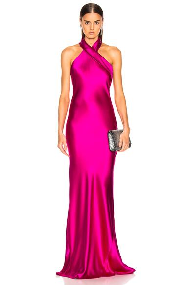 GALVAN Silk Pandora Dress in Pink. - size 42 (also in )