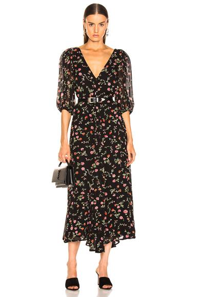 Ganni Elm Georgette Dress in Black. - size 38 (also in )