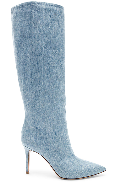 Gianvito Rossi Denim Boots in Blue,Denim Light. - size 36 (also in 36.5,37.5,38.5,39)