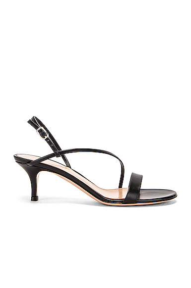 Gianvito Rossi Manhattan Strappy Kitten Heels in Black. - size 39 (also in 36,37,38)