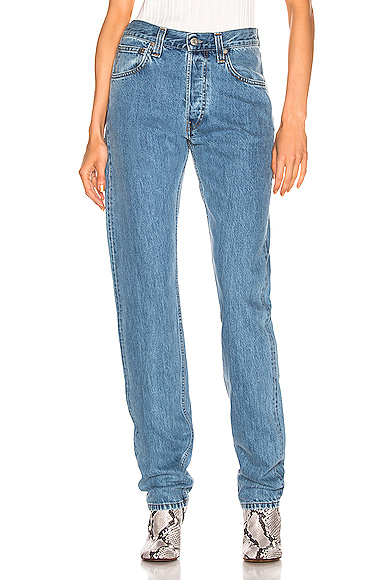 Helmut Lang Masculine Hi Straight in Denim Medium. - size 25 (also in 24,27,28,30)