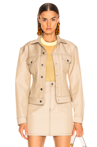 Helmut Lang Femme Trucker Jacket in Neutral. - size M (also in XS,S,L)